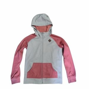 Coral and cream coloured Burton zip up hoodie